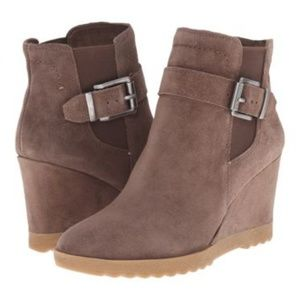 Vince Camuto Taupe Suede Heeled Booties